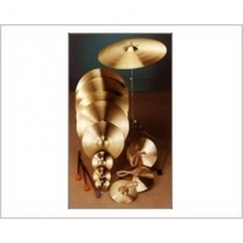 67450 BRASS CYMBALS with Straps 35 cm