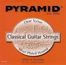 341200 GUITAR NYLON SET Silver-Plated Wood